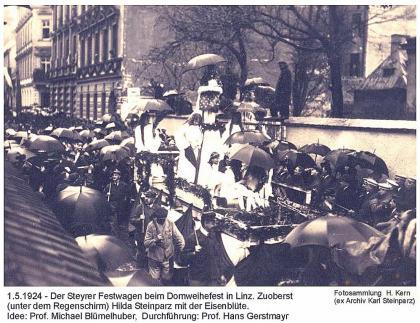 1924-05-01 - Domweihe Festzug(10).Linz