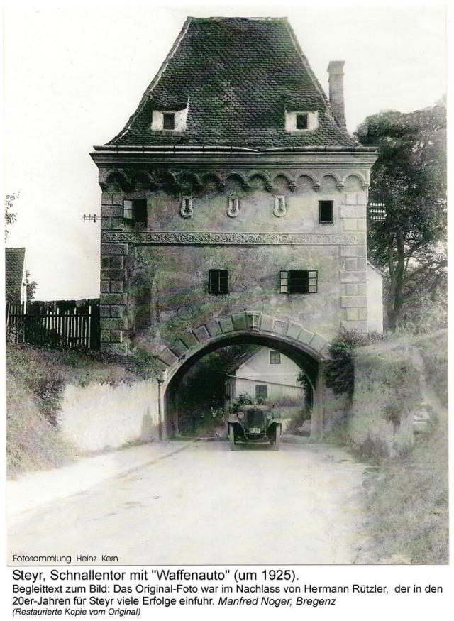 1925ca - Hermann Rützler.Schnallentor.Waffenauto