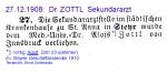 Dr. Zottl 1908 Assistenzarzt