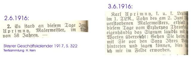 1916 Tod Uprimny