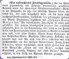 Alpenbote.6.9.1894.Freskogemaelde Morzer