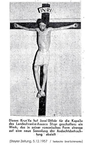 1957-12-05 - Jos.Diethör - Kruzifix LKH Steyr