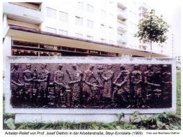 1969 - J.Diethör - Relief Arbeiterstraße