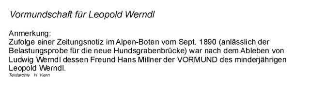 1890 - Leopold Werndl.Vormundschaft
