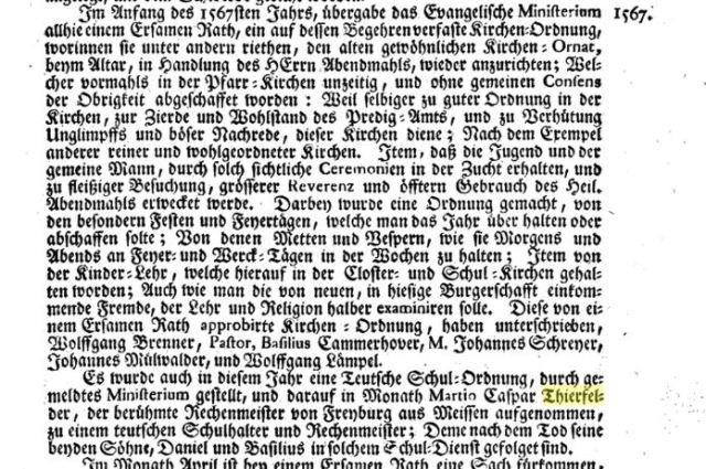 1567 Preuenhueber Eintrag Thierfelder S.281