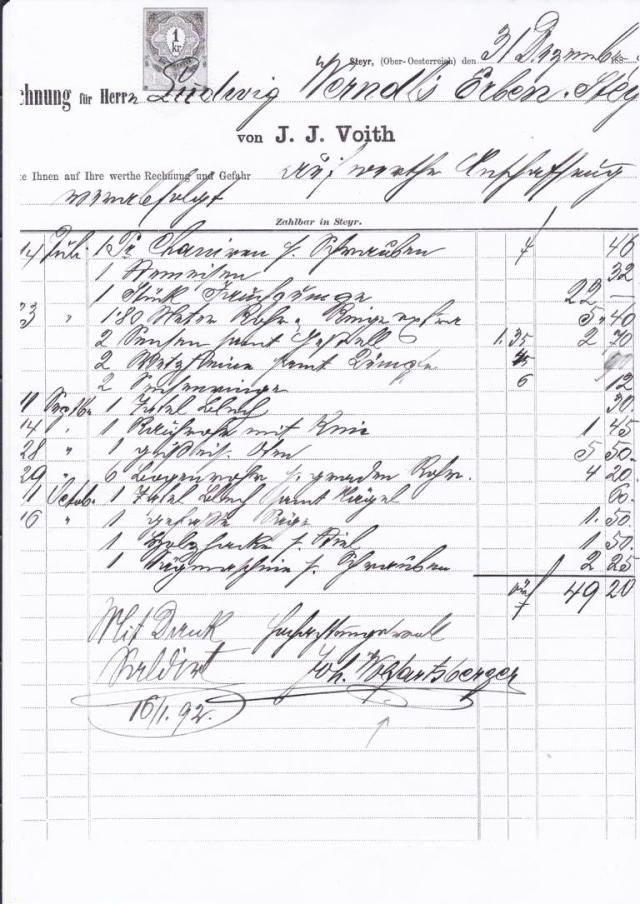 K1024_1892 Rechnung J.J.Voith Inh.Wolfartsberger