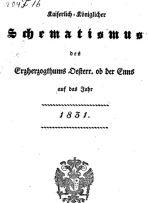 schematismus titel 1831