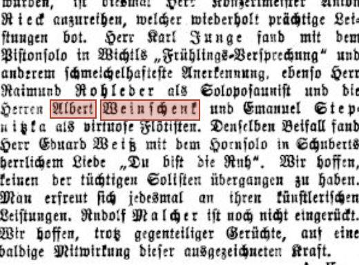 1914 Juni 3 Badener Zeitung Kurkonzerte floetist weinschenk