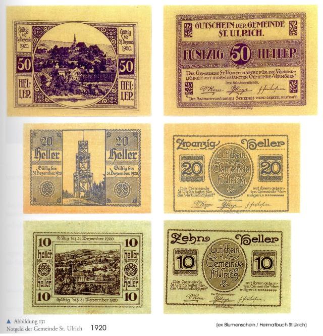 1920 - St.Ulrich - Notgeld