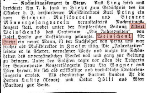 1930 Reichspost Dez 19. Konzert Albert Weinschenk neu