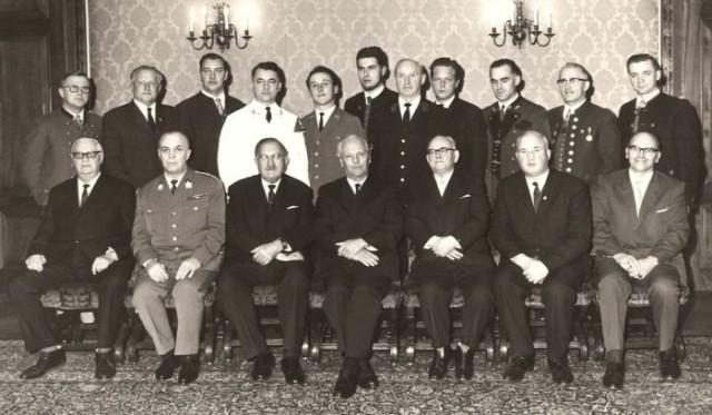 1966 Ehrungen Musikkapellmeister LH
