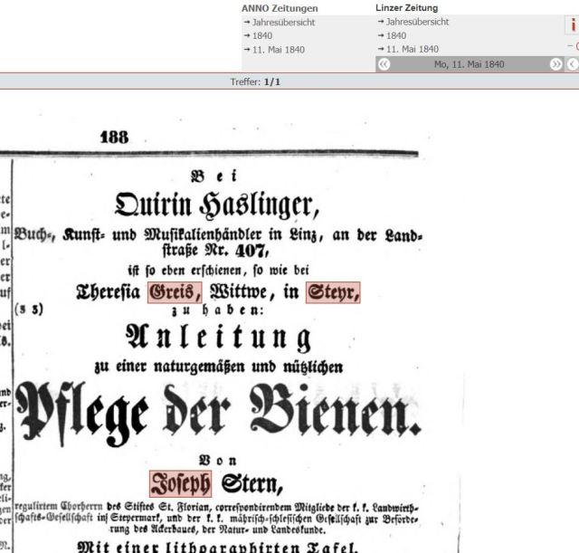 1840 theresia greis
