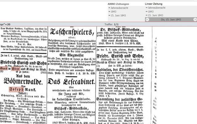 1843 Druckerei Greis