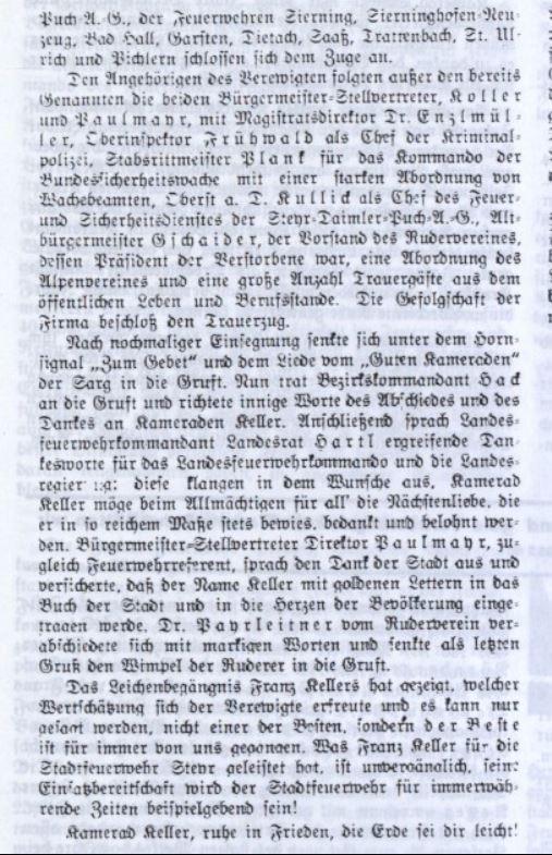 1951 Tod 2.Seite FF Zeitung